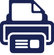 Fax completed form icon